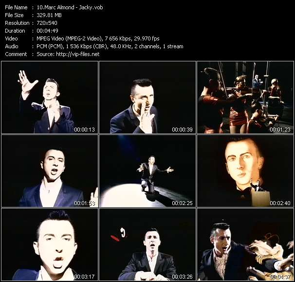 Screenshot of Music Video Marc Almond - Jacky