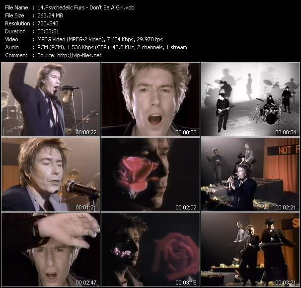Screenshot of Music Video Psychedelic Furs - Don't Be A Girl