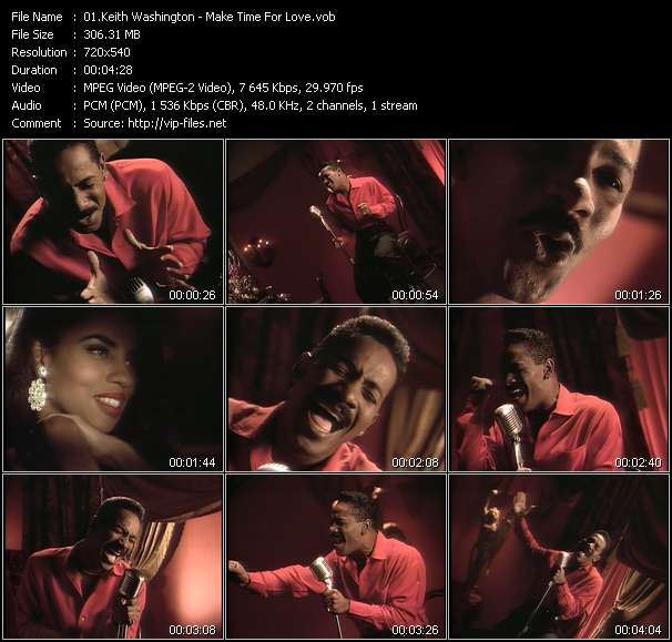 Screenshot of Music Video Keith Washington - Make Time For Love