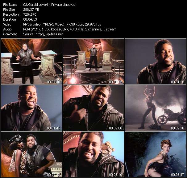 Screenshot of Music Video Gerald Levert - Private Line