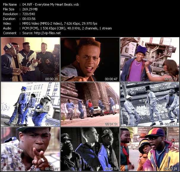 Screenshot of Music Video Riff - Everytime My Heart Beats