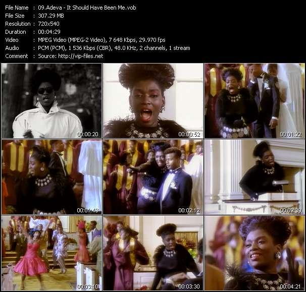 Screenshot of Music Video Adeva - It Should Have Been Me