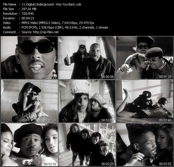 Screenshot of Music Video Digital Underground - Kiss You Back
