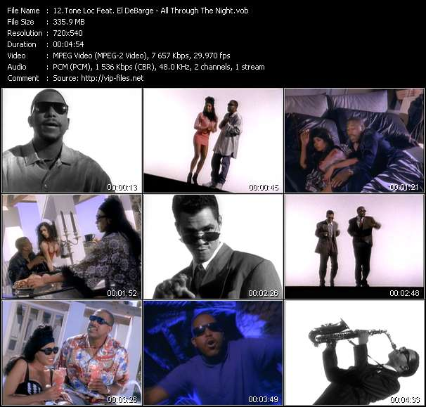 Screenshot of Music Video Tone Loc Feat. El DeBarge - All Through The Night