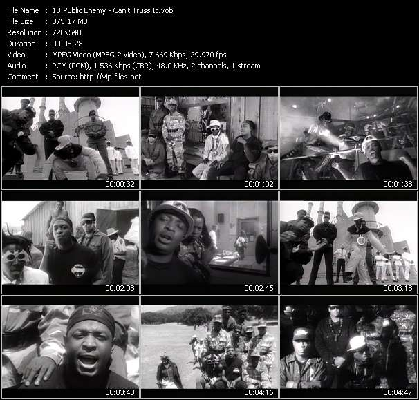 Screenshot of Music Video Public Enemy - Can't Truss It