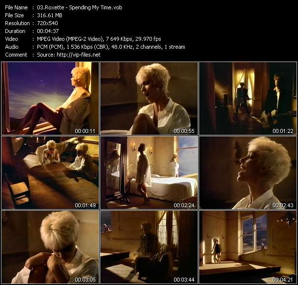 Screenshot of Music Video Roxette - Spending My Time