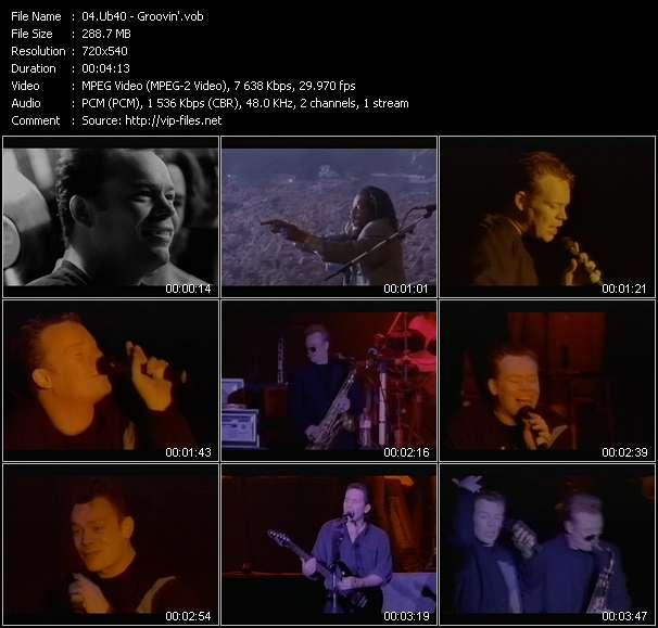 Screenshot of Music Video Ub40 - Groovin'