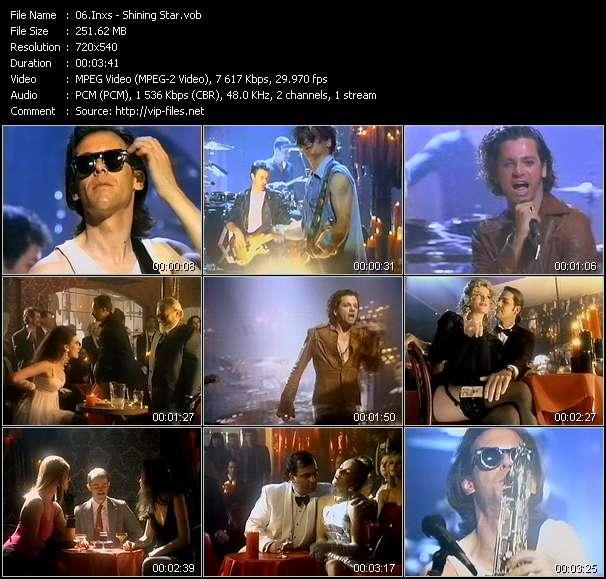 Screenshot of Music Video Inxs - Shining Star