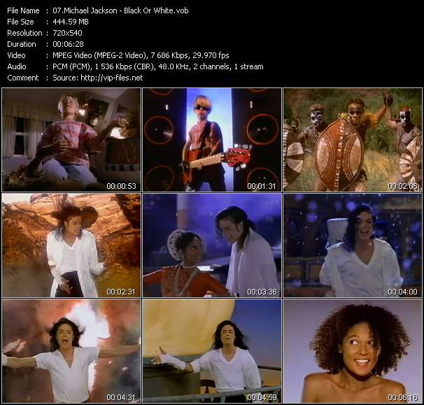 Screenshot of Music Video Michael Jackson - Black Or White