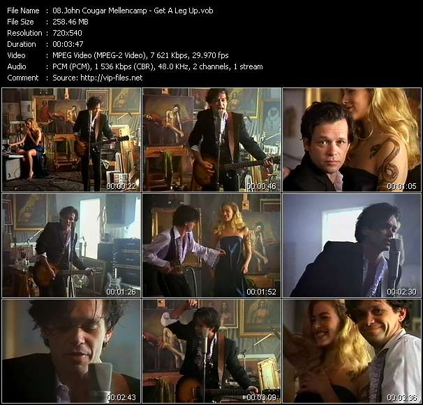 Screenshot of Music Video John Cougar Mellencamp - Get A Leg Up