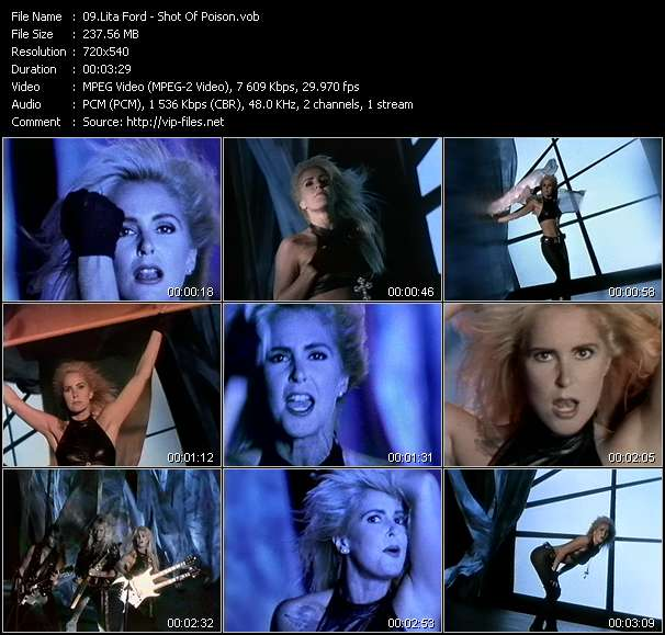Screenshot of Music Video Lita Ford - Shot Of Poison