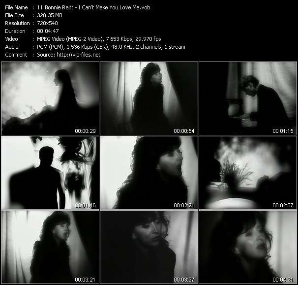 Screenshot of Music Video Bonnie Raitt - I Can't Make You Love Me
