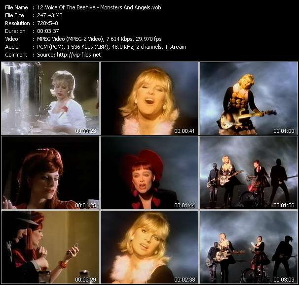Screenshot of Music Video Voice Of The Beehive - Monsters And Angels