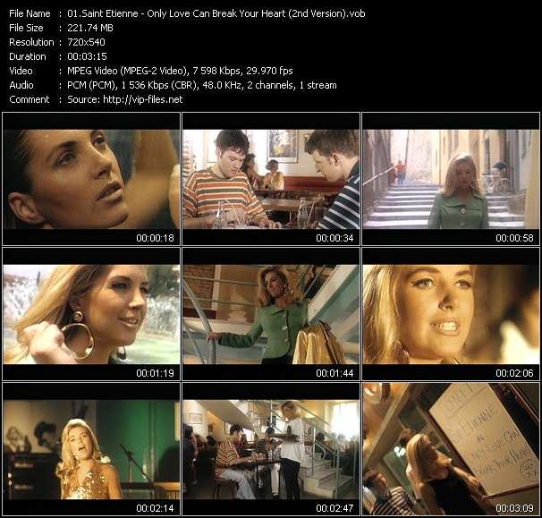 Screenshot of Music Video Saint Etienne - Only Love Can Break Your Heart (2nd Version)