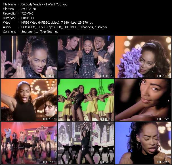 Screenshot of Music Video Jody Watley - I Want You