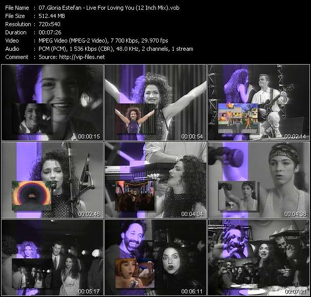 Gloria Estefan video vob