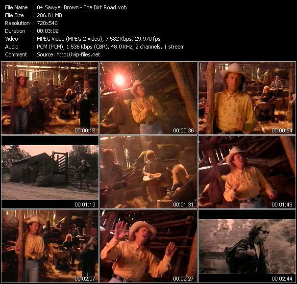 Screenshot of Music Video Sawyer Brown - The Dirt Road