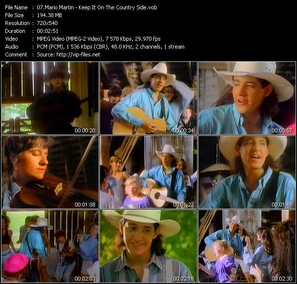 Screenshot of Music Video Mario Martin - Keep It On The Country Side