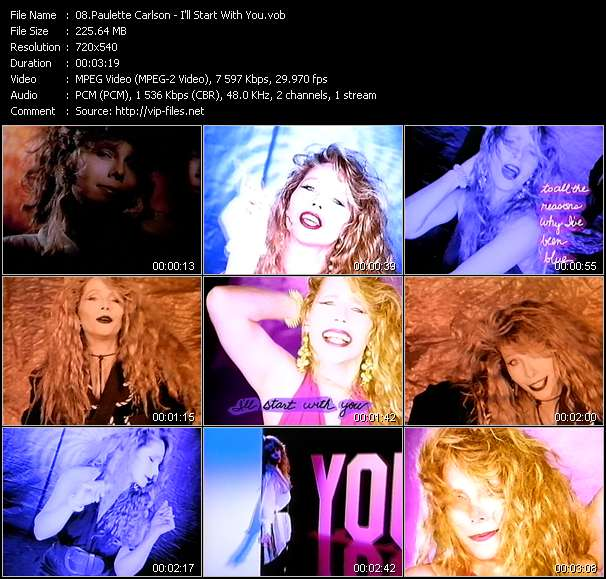 Screenshot of Music Video Paulette Carlson - I'll Start With You