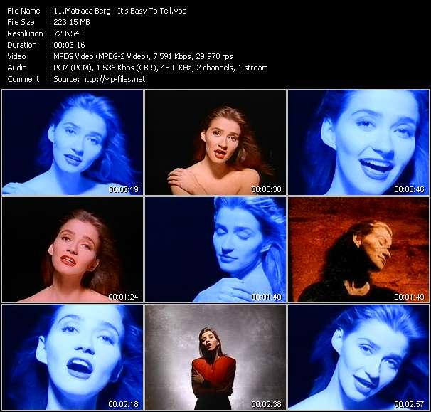 Screenshot of Music Video Matraca Berg - It's Easy To Tell