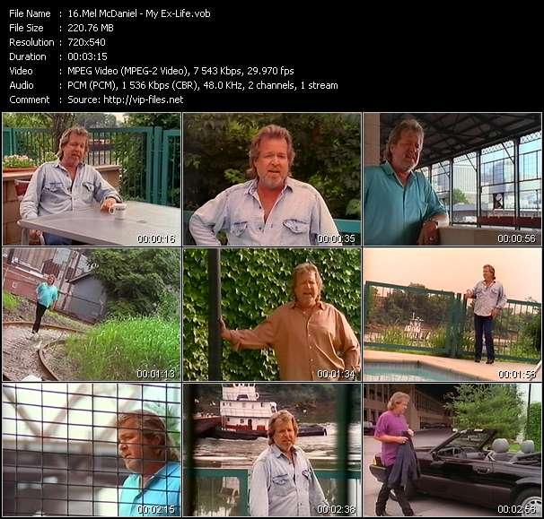 Screenshot of Music Video Mel McDaniel - My Ex-Life