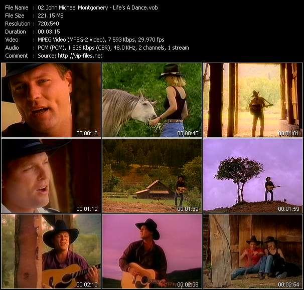 Screenshot of Music Video John Michael Montgomery - Life's A Dance