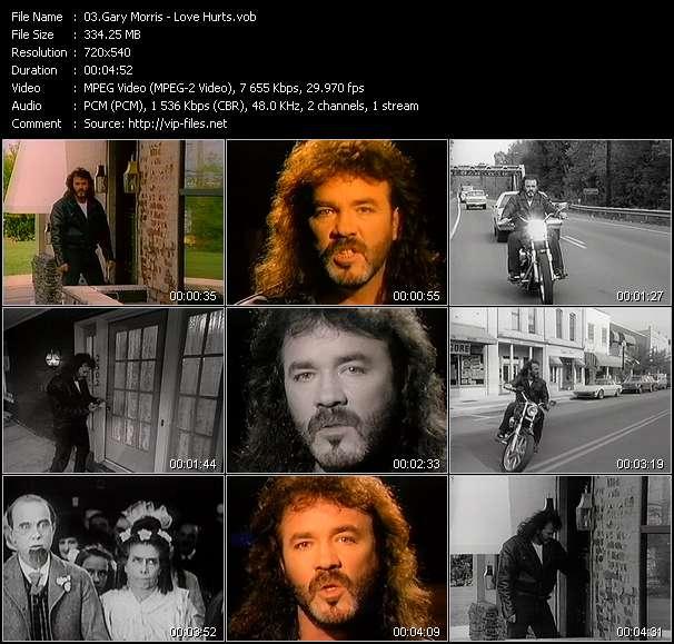 Screenshot of Music Video Gary Morris - Love Hurts