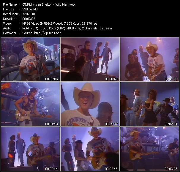Screenshot of Music Video Ricky Van Shelton - Wild Man