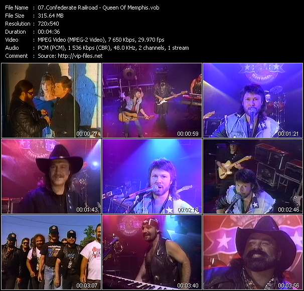 Screenshot of Music Video Confederate Railroad - Queen Of Memphis