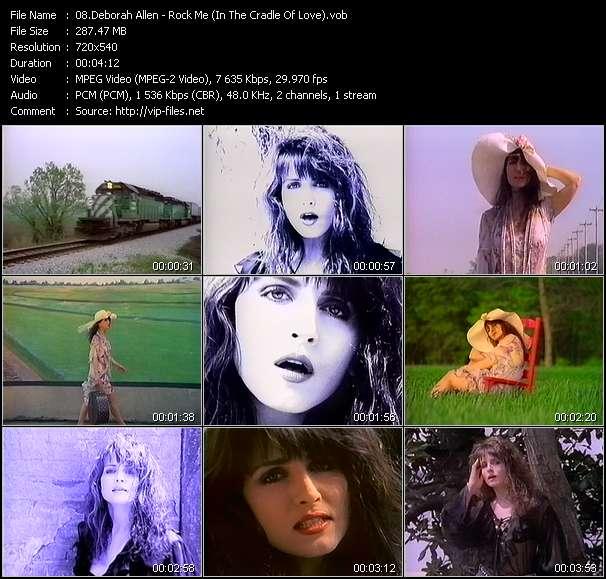 Screenshot of Music Video Deborah Allen - Rock Me (In The Cradle Of Love)