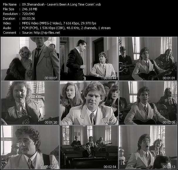 Screenshot of Music Video Shenandoah - Leavin's Been A Long Time Comin'