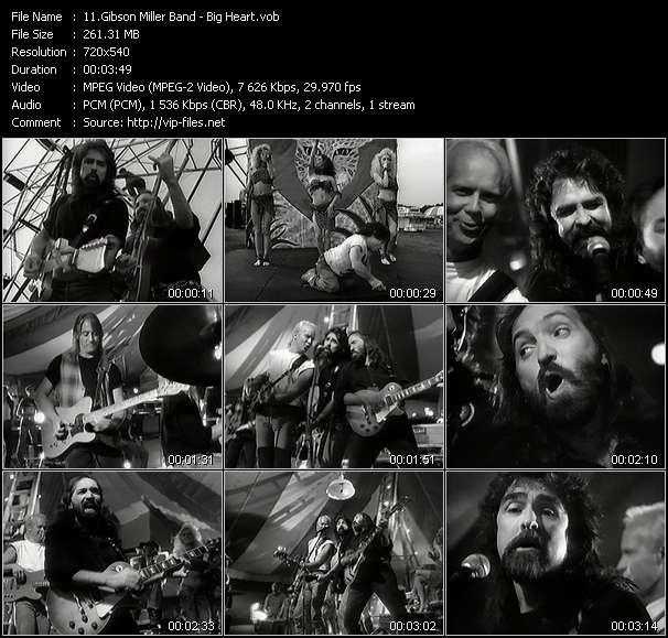 Screenshot of Music Video Gibson Miller Band - Big Heart