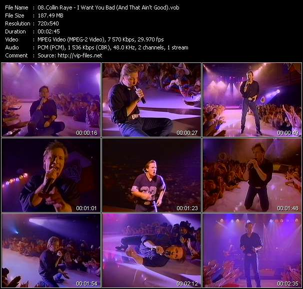 Collin Raye video vob