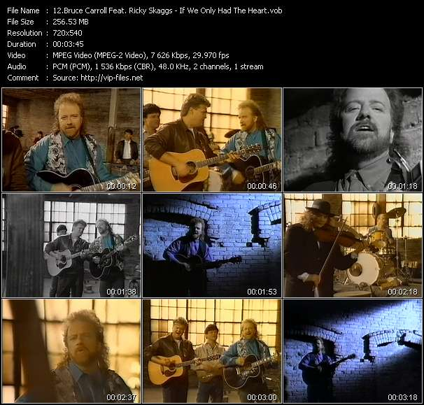 Bruce Carroll Feat. Ricky Skaggs video vob
