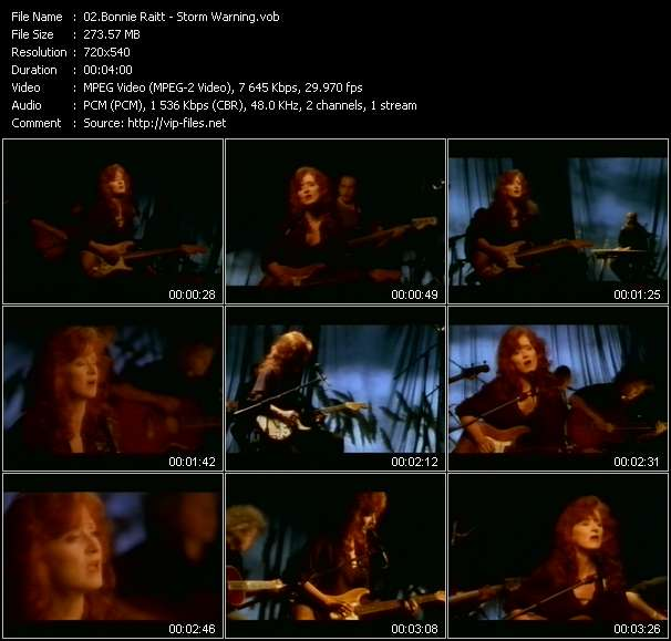 Bonnie Raitt video vob
