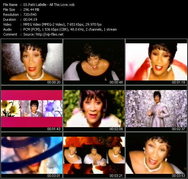 Patti LaBelle video vob