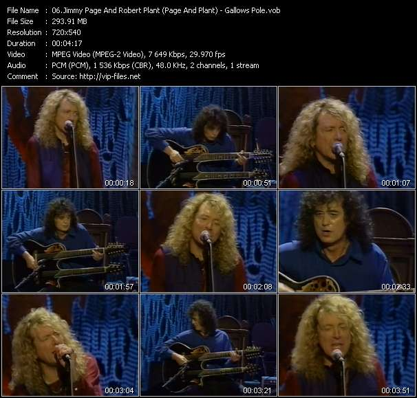 Jimmy Page And Robert Plant (Page And Plant) video vob