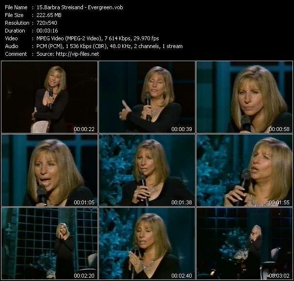 Barbra Streisand video vob