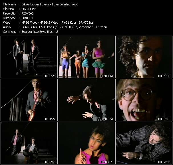 Ambitious Lovers video vob