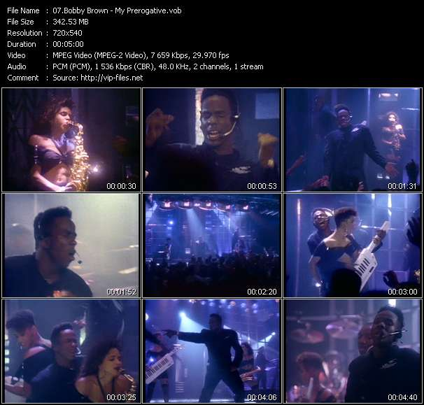 Bobby Brown video vob