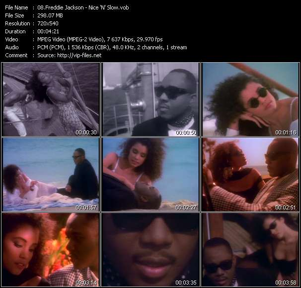 Freddie Jackson video vob