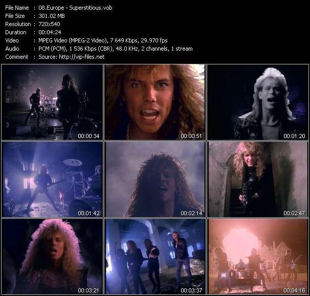 Screenshot of Music Video Europe - Superstitious