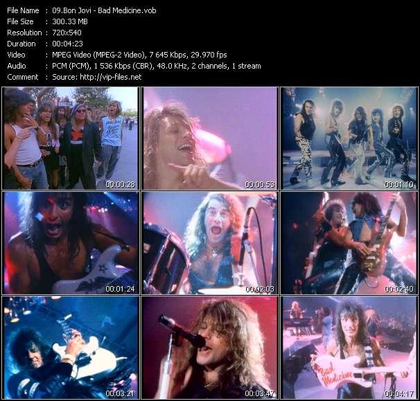 Screenshot of Music Video Bon Jovi - Bad Medicine