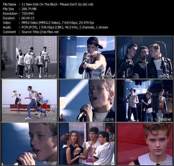 Screenshot of Music Video New Kids On The Block - Please Don't Go Girl
