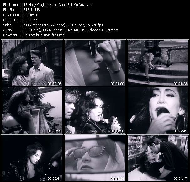 Screenshot of Music Video Holly Knight - Heart Don't Fail Me Now