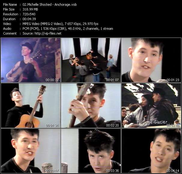 Screenshot of Music Video Michelle Shocked - Anchorage