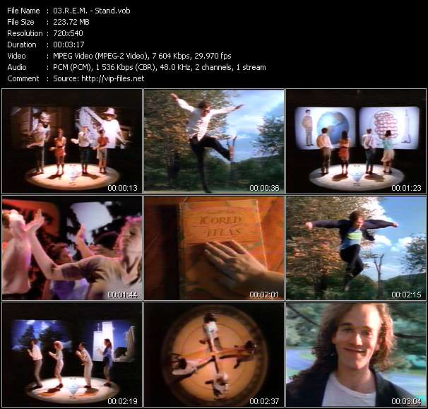 Screenshot of Music Video R.E.M. - Stand