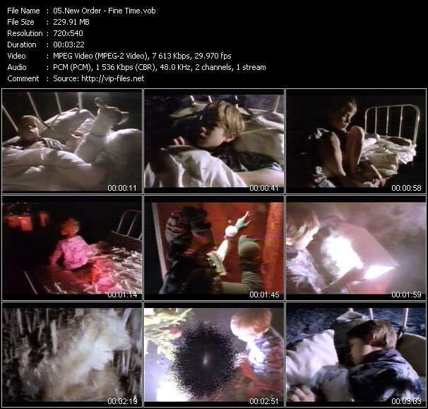 Screenshot of Music Video New Order - Fine Time