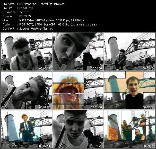 Screenshot of Music Video Nitzer Ebb - Control I'm Here