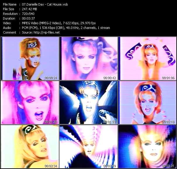 Screenshot of Music Video Danielle Dax - Cat House